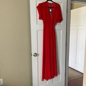 Bohoo red dress